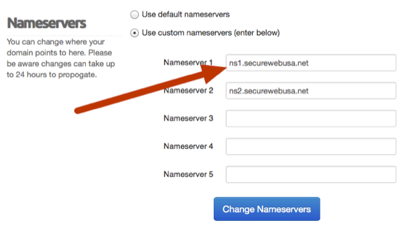 Manage Domain Nameservers